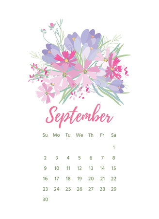 Printable 2018 Calendar with pretty colorful flowers