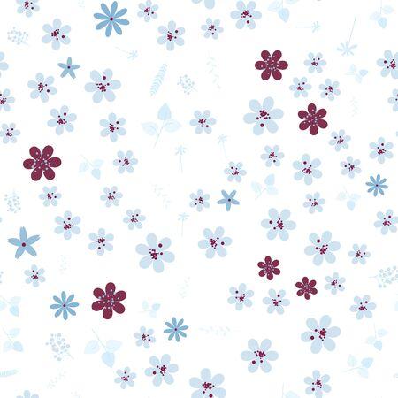 Vintage romantic vector trendy seamless pattern