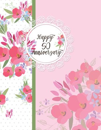Greeting card design Illustration