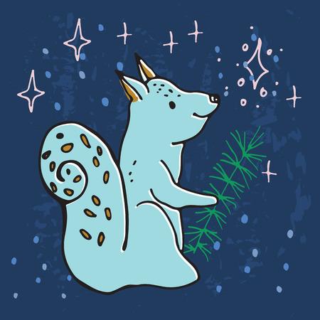 Illustration des Adventskalenders für das Weihnachtswartezeit.
