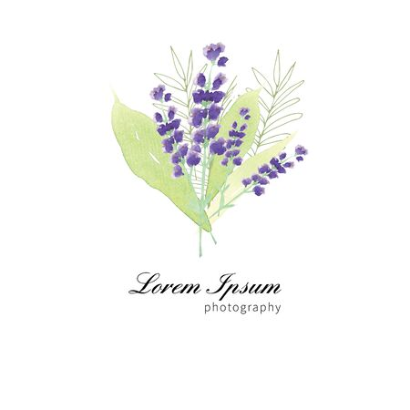 Handgemalte Wildblumen Blumenmuster Standard-Bild