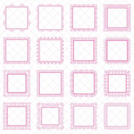 Elegante Lace Border Frames Laser geschnittene Bilderrahmen