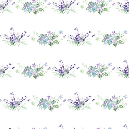 Sommerblumenzusammensetzung mit zarten hellen Blumen. Vektor-Illustration. Illustration