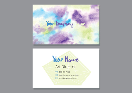 Abstract colorful watercolor background illustration. Illustration