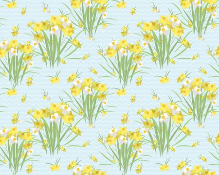 Floral narcissus retro vintage background