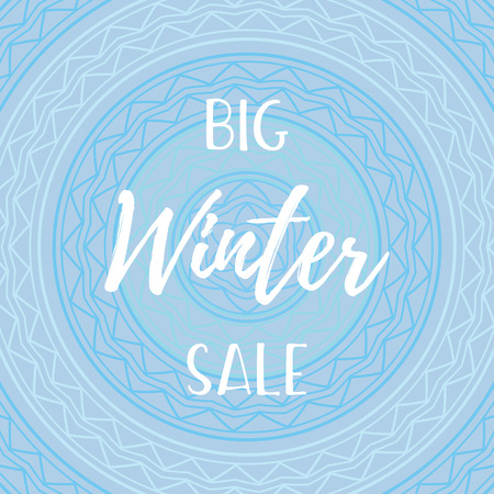 Winter mobile banner sale. illustration of the website of online stores and mobile banner, posters, mailings, advertisements, coupons, banners in social networks. Stok Fotoğraf