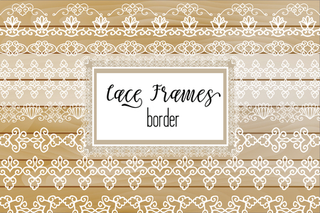 Elegant Lace Borders Frames laser cut. Picture Frames Art scrapbook