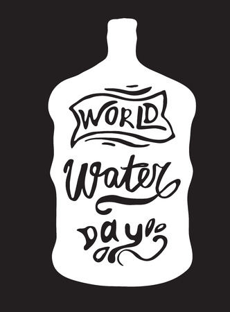 Greeting card of the World Water Day Banque d'images - 115155532