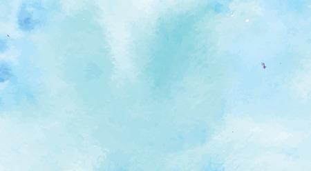 Art peint à la main de la peinture de couleur bleue aquarelle sur papier aquarelle