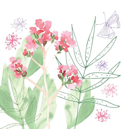 Hand Painted Wildflower floral pattern