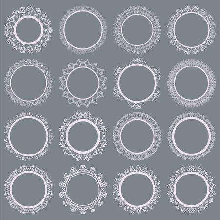 Elegant Lace Borders Frames laser cut Illustration