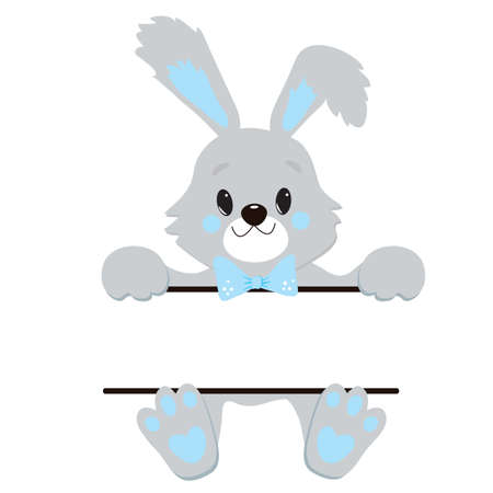 Cute Little Easter Bunny Vector Illustration