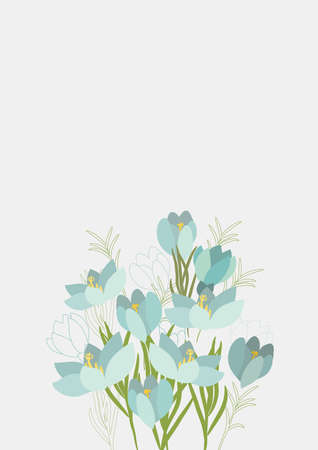 Floral Clean Template with bouquets of flowers without text