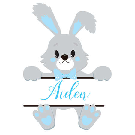 Cute Little Easter Bunny Vector Illustration