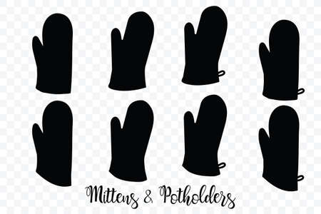 Kitchenware Oven Mitts Flat Icon A White Background