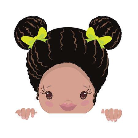 African American Little Girls Clipart
