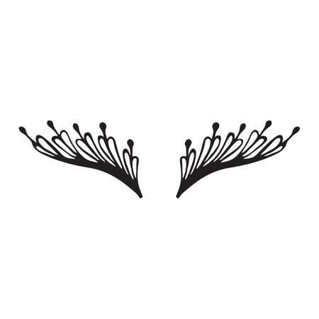 Cute Design Silhouette Eyelashes Closed Female Eyes