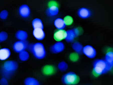Abstract Light Bokeh texture on black background