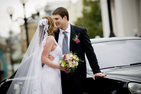 solemnity: On the image there is bride and bridegroom.
