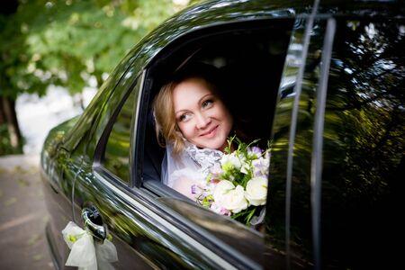 solemnity: L'immagine si sposa. E 'in auto.