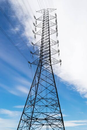 High voltage cable on Steel Tower photo