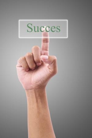 Hand pressing Succes