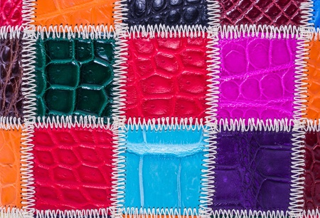 currying: skin crocodile textured leather three Stock Photo