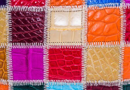 currying: skin crocodile textured leather one