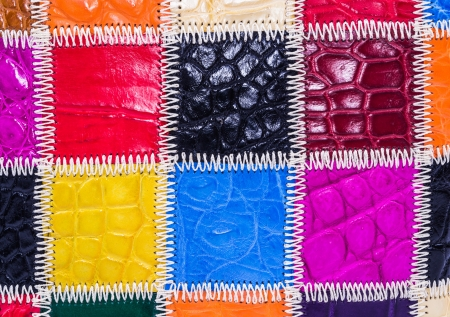 currying: crocodile textured leather