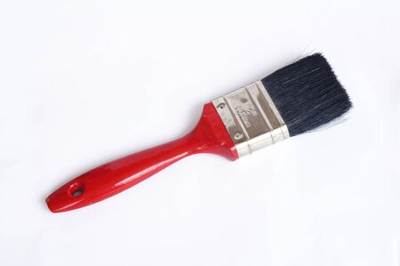 old brush  on white background               photo