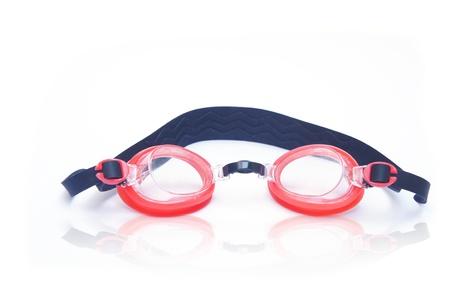 swim goggles: Gafas de nataci�n rojo