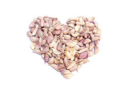garlic: Garlic heart shape Stock Photo