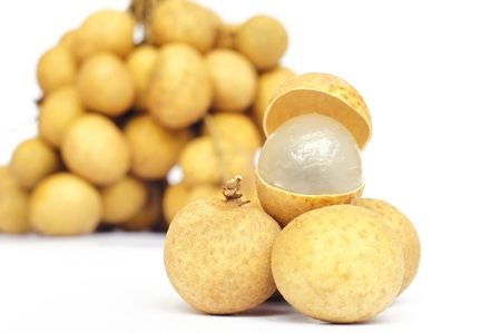 longan isolated on white  photo