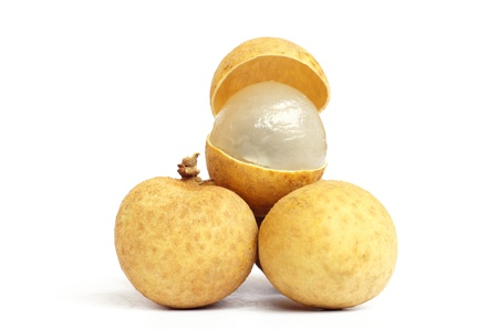 longan isolated on white