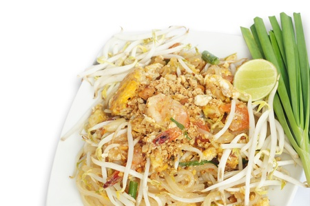 Fried noodle with shrimp photo