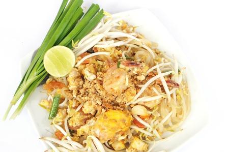 Fried noodle with shrimp photo