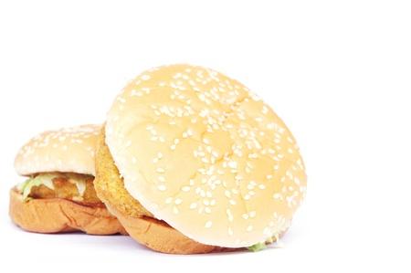 chicken burger: chicken burger Stock Photo