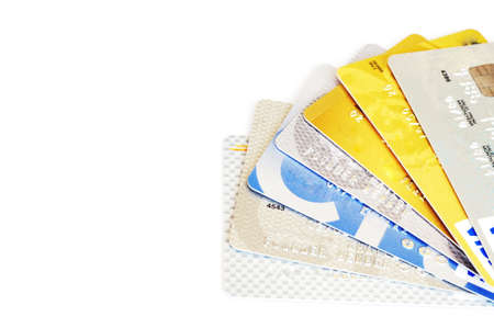 credit cards on white background               Stock Photo - 17451480
