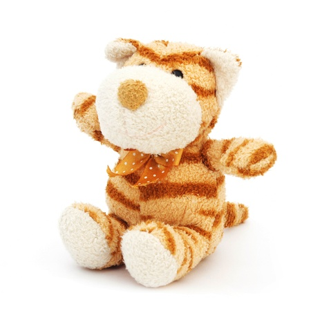 tiger doll on white background  photo