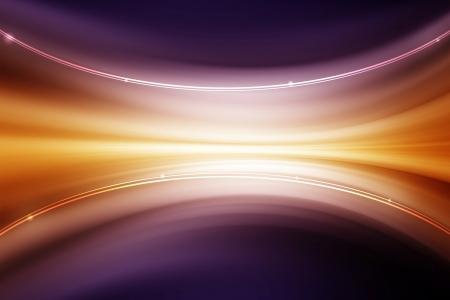 Abstrakt Kurve Linie Hintergrund - orange bis violett Farbverlauf Standard-Bild - 23874794