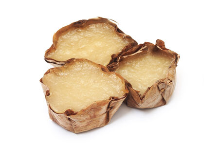 sweetmeat: Chinese pudding Sweetmeat in basket - to celebrate chinese new year     Stock Photo