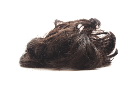 hairpiece on white background Stock Photo