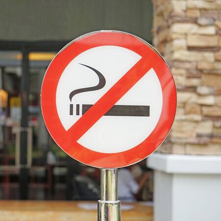 disallow: No smoking signpost , outdoor area Stock Photo
