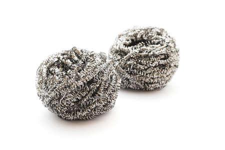 steel wool: steel wool - dishwasher on white background