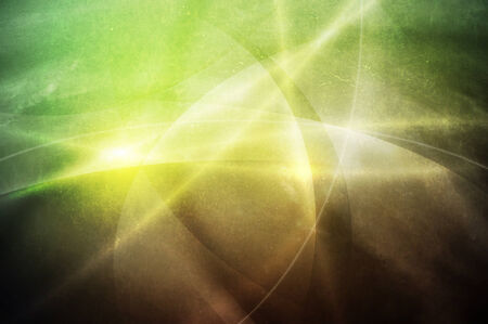 web2: curve and line on green to brown gradient color grunge background Stock Photo