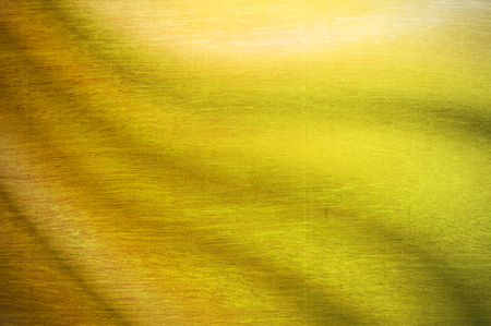 web2: grunge wood texture with yellow green wave color Stock Photo