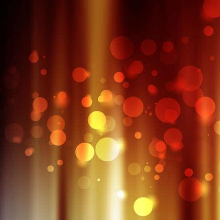 aurora: orange aurora  background with bokeh Stock Photo