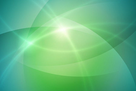 cool green to blue gradient background with curve and light