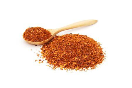 cayenne pepper on white background Фото со стока