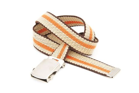 stripe pattern: stripe pattern belt on white background
